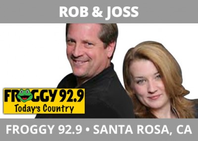 Rob and Joss, Froggy 92.9, Santa Rosa, CA