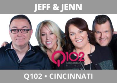 Jeff and Jenn, Q102, Cincinnati
