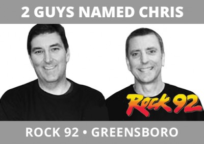 2 Guys Named Chris, Rock 92, Greensboro