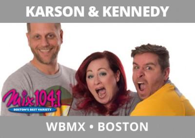 Karson & Kennedy, WBMX, Boston