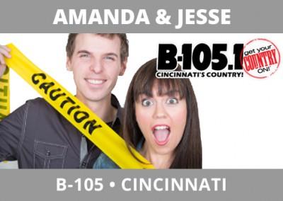 Amanda & Jesse, B-105, Cincinnati