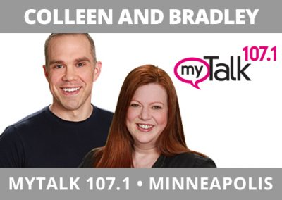 Colleen and Bradley, myTalk 107.1, Minneapolis